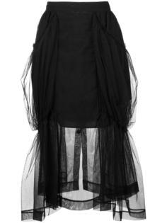 прозрачная юбка Simone Rocha