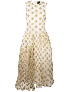 платье с золотистыми звездами  Simone Rocha