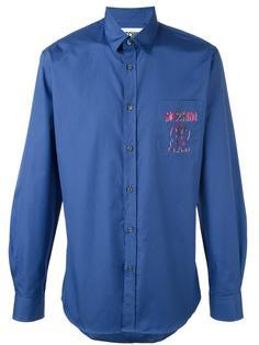 рубашка с логотипом Moschino