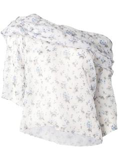 блузка на одно плечо с цветочным узором Rosie Assoulin