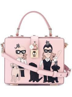 квадратная сумка-тоут 'Dolce' с нашивкой Dolce & Gabbana