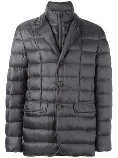 куртка-пуховик с двойным воротником Herno