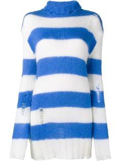 свитер с высокой горловиной в полоску Filles A Papa