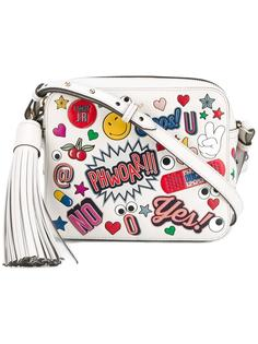 сумка через плечо со стикерами Anya Hindmarch