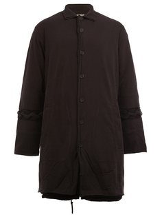 пальто с плетеной окантовкой  Yohji Yamamoto