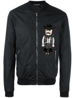 куртка бомбер с нашивкой Dolce & Gabbana