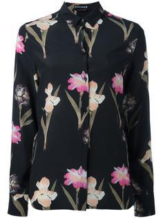 рубашка с цветочным принтом Rochas
