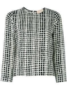 блузка с графичным рисунком Erika Cavallini