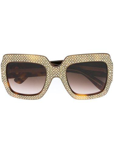 солнцезащитные очки в декорированной оправе Gucci Eyewear