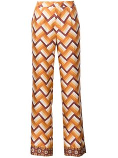 chevron print straight trousers For Restless Sleepers