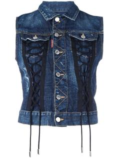 джинсовая жилетка со шнуровкой Dsquared2