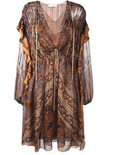 свободное платье с оборками Chloé