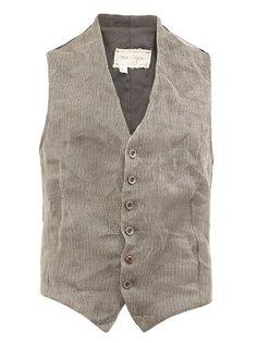 metal knit waistcoat  Greg Lauren