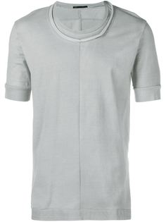 T-Shirt with Lambskin Hem The Viridi-Anne