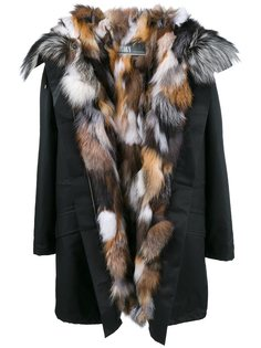 fox fur lined parka Yves Salomon