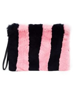 Fur and Leather Clutch Tu Es Mon Tresor
