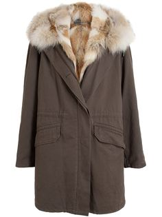 Coyote Fur Lined Parka Yves Salomon