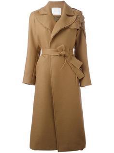 декорированное пальто с поясом Giada Benincasa