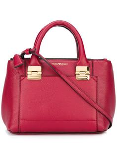 сумка-тоут с контрастной строчкой Emporio Armani