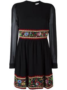 платье с цветочной вышивкой Red Valentino