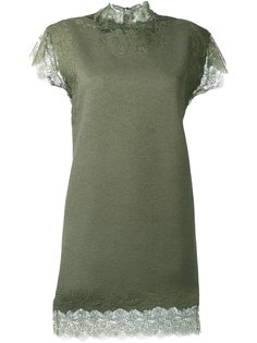 платье с кружевными вставками  Ermanno Scervino