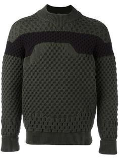 двухцветный свитер с круглым вырезом Jil Sander