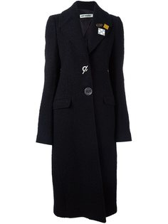 удлиненное пальто с брошами Off-White