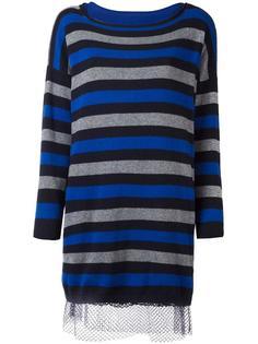 полосатое платье-свитер Twin-Set