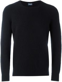 свитер с высокой горловиной в рубчик Drumohr