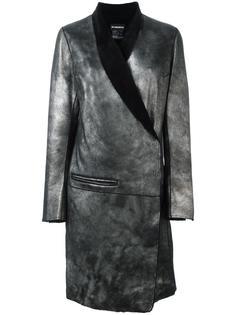 пальто с запахом и лацканами-шалькой Ann Demeulemeester