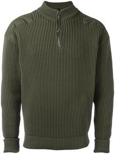 свитер с рубчик с застежкой-молнией Jil Sander