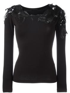 sheer 'leaves' detailing blouse Ermanno Scervino