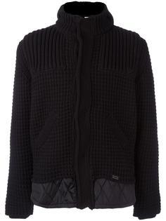трикотажная куртка с контрастным подолом Bark