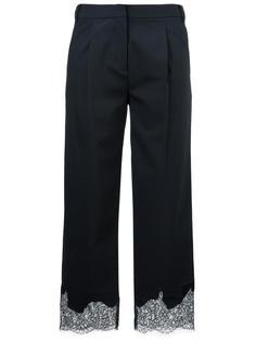 брюки с кружевной вставкой  Tibi