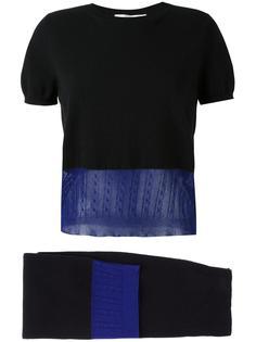 трикотажный набор из топа и юбки Victoria Beckham