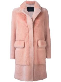 buttoned mid-length coat Blancha
