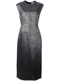 длинное платье с круглым вырезом Jil Sander