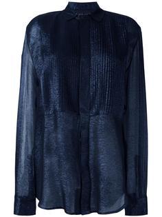 прозрачная рубашка в рубчик Michel Klein