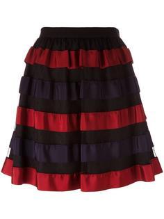 короткая юбка в полоску Red Valentino