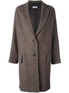 твидовое пальто в клетку Alberto Biani