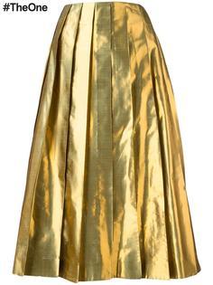 юбка со складками и эффектом металлик Arthur Arbesser