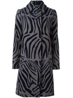 пальто с зебровым узором Kolor