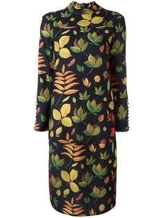платье с принтом листьев Arthur Arbesser