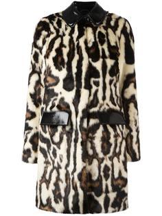 пальто с пятнистым узором Carven
