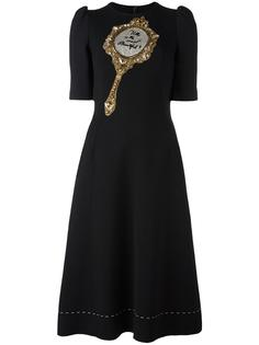платье с заплаткой в виде зеркала Dolce & Gabbana