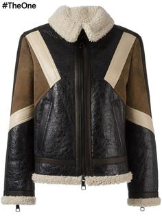 кожаная куртка с панельным дизайном Neil Barrett