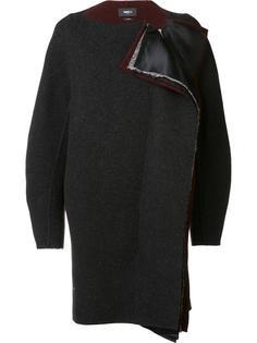 collarless cocoon coat Yang Li