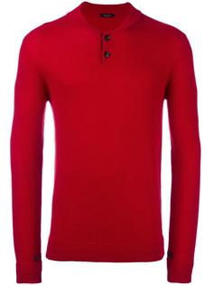 фактурный пуловер на пуговицах Roberto Collina