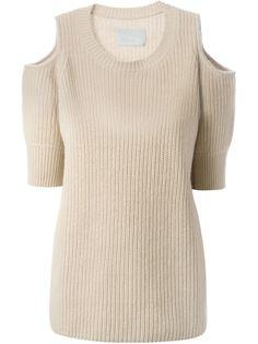 свитер с вырезами на плечах Zoe Jordan