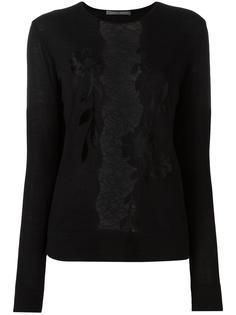lace detailing knit blouse Alberta Ferretti